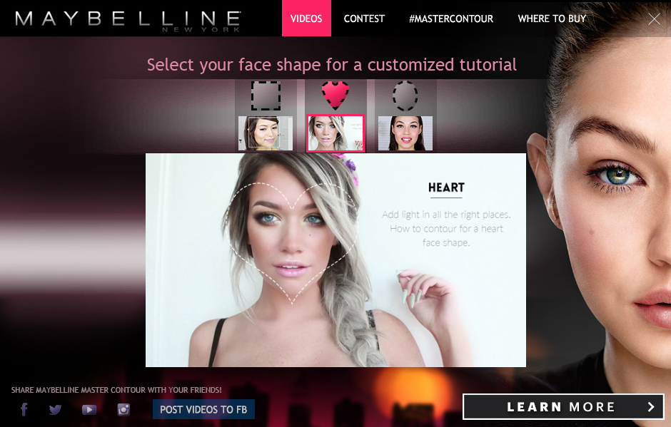 Display Advertising Maybelline