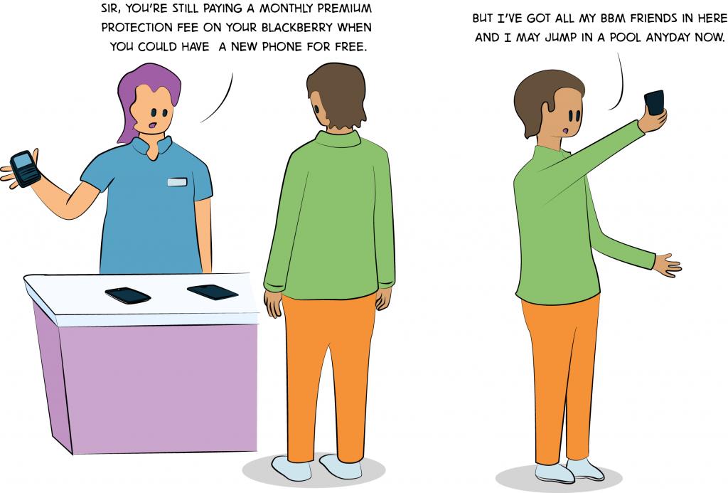 Old tech vs. New Tech comic
